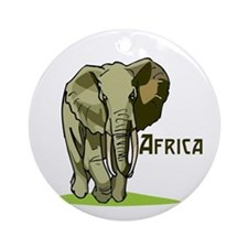 Africa Ornament (Round)