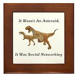 It Was Social Networking Framed Tile