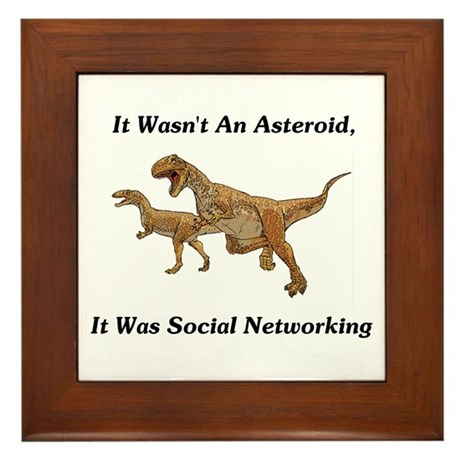 It Was Social Networking Framed Tile