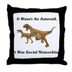 It Was Social Networking Throw Pillow