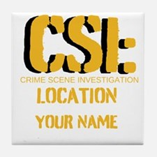 Customizable CSI Tile Coaster