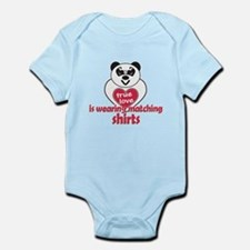 True Love Panda Infant Bodysuit
