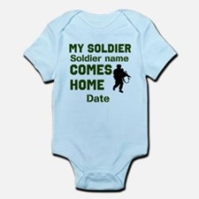Customizable Soldier Homecoming Infant Bodysuit