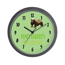 Honey Badger's Got My Back Wall Clock