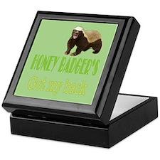 Honey Badger's Got My Back Keepsake Box