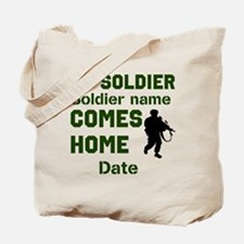 Customizable Soldier Homecoming Tote Bag