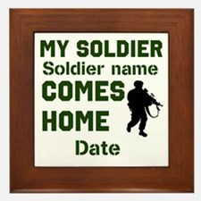 Customizable Soldier Homecoming Framed Tile