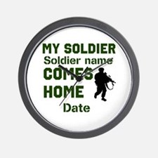Customizable Soldier Homecoming Wall Clock