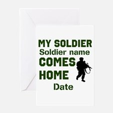 Customizable Soldier Homecoming Greeting Card