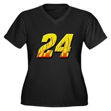 JG24flame Women's Plus Size V-Neck Dark T-Shirt