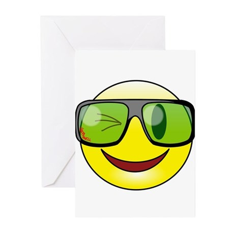Smiley Specs Greeting Cards (Pk of 20)