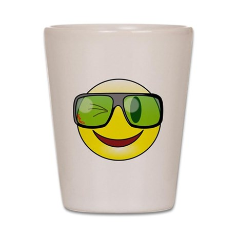 Smiley Specs Shot Glass