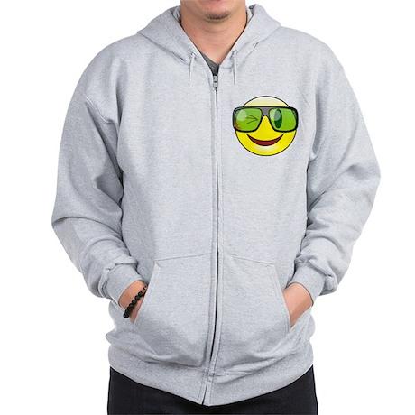 Smiley Specs Zip Hoodie