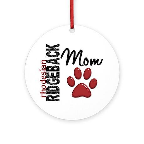 Rhodesian Ridgeback Mom 2 Ornament (Round)