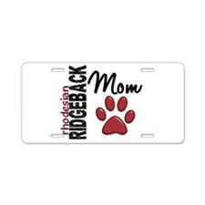 Rhodesian Ridgeback Mom 2 Aluminum License Plate