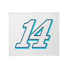 TS14blue Throw Blanket