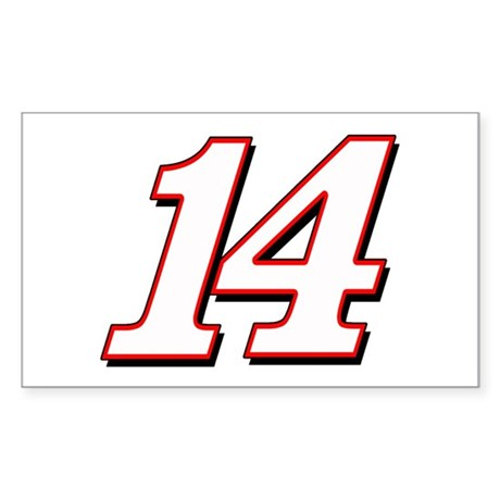 TS14red Sticker (Rectangle)