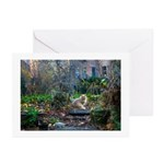 Autumn yard with cat Greeting Cards (Pk of 20)