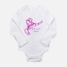 Girls Can't what? Baby Suit