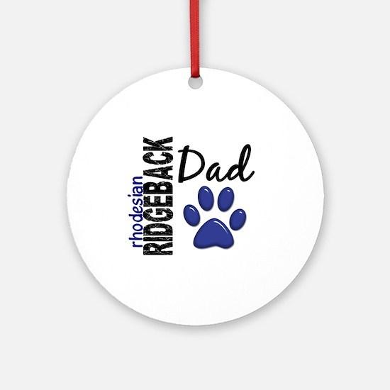 Rhodesian Ridgeback Dad 2 Ornament (Round)
