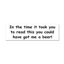 Beer gift Car Magnet 10 x 3