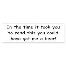 Beer gift Bumper Sticker