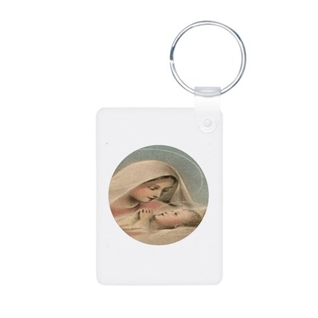 Mary, Mother of Jesus Christ Alum Photo Keychain