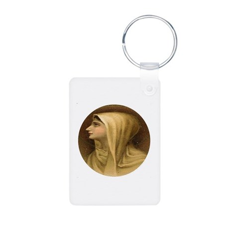 Blessed Virgin Mary Aluminum Photo Keychain