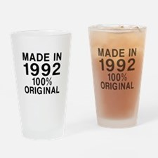 Made In 1992 Drinking Glass