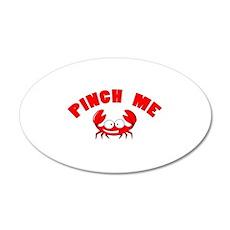 Pinch me crab 22x14 Oval Wall Peel