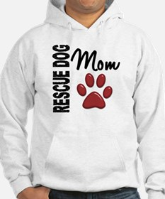 Rescue Dog Mom 2 Hoodie