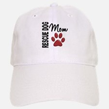 Rescue Dog Mom 2 Baseball Baseball Cap
