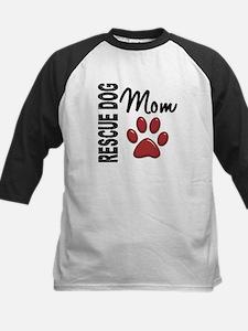 Rescue Dog Mom 2 Kids Baseball Jersey
