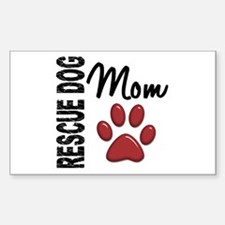 Rescue Dog Mom 2 Sticker (Rectangle)
