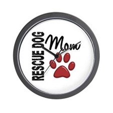 Rescue Dog Mom 2 Wall Clock