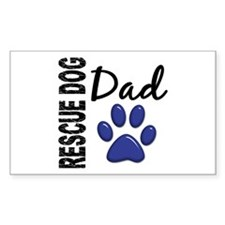 Rescue Dog Dad 2 Decal