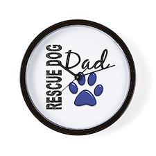 Rescue Dog Dad 2 Wall Clock