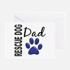 Rescue Dog Dad 2 Greeting Card