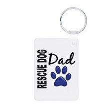 Rescue Dog Dad 2 Keychains