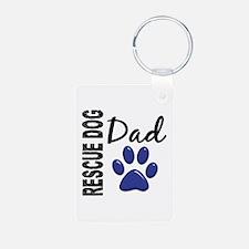 Rescue Dog Dad 2 Keychains