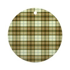 Retro Green Plaid Keepsake (Round)