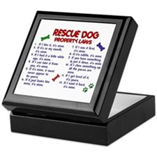 Rescue Dog Property Laws 2 Keepsake Box