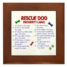 Rescue Dog Property Laws 2 Framed Tile