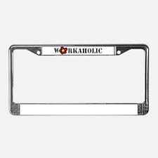 Workoholic License Plate Frame