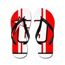 NH69stripe Flip Flops
