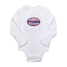 Provincetown MA - Oval Design. Long Sleeve Infant