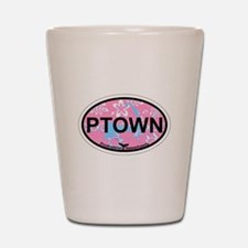 Provincetown MA - Oval Design. Shot Glass