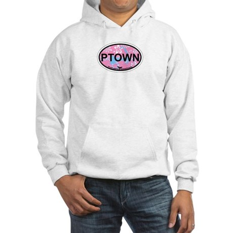 Provincetown MA - Oval Design. Hooded Sweatshirt
