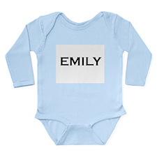 Emily Long Sleeve Infant Bodysuit