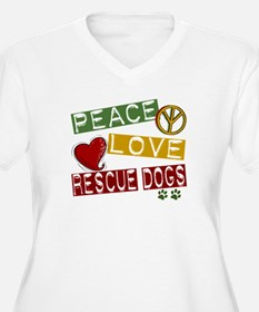 Peace Love Rescue Dogs T-Shirt